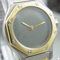 Cartier Santos Ronde Automatik Damenuhr Stahl / Gold
