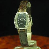 Omega Geneve 18kt 750 Weißgold Handaufzug Damenuhr + Diamant...