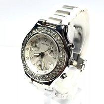 Cartier 21 Chronoscaph Ss Unisex Watch W/ Diamond Bezel Water...