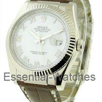 Rolex Unworn 116139 Mens Datejust - White Gold on Strap -...