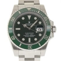 Rolex Submariner 116610 40mm Steel Green Ceramic 2014 Box/P #13-1