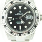 Rolex GMT MASTER II,Steel,Aftermarket Setted Diamonds,Baguettes