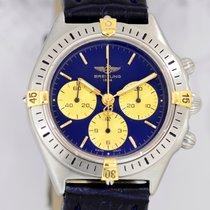 Breitling Callisto Chronograph Lemania 1873 blue Gold Klassiker