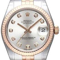Rolex Datejust 31 Edelstahl Roségold Everose Jubilé Silber DIA
