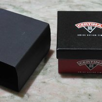 Certina vintage watch carton box red and black complete...