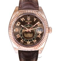Rolex Sky-Dweller Everose Gold/Leather 42mm - 326135