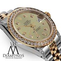 Rolex Ladies 78273 Datejust 2 Tone 31mm Champagne Color...