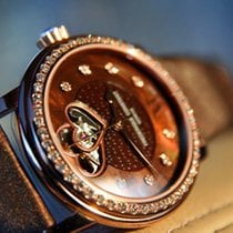 Frederique Constant Double cœur Diamants nacre chocolat or rose