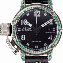 U-Boat Chimera Silver Emeralds 43MM