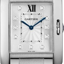 Cartier TANK ANGLAISE SMALL MODEL SILVER DIAL W4TA0003 T