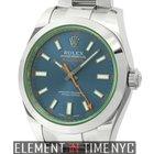 Rolex Milgauss Stainless Steel 40mm Green Crystal Z-Blue Dial...