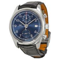 IWC Portuguese Chronograph Classic Edition Laureus Blue Dial...