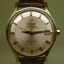 Omega vintage 1963 constellation gold and steel auto ref...