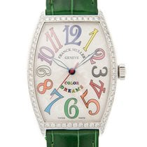 Franck Muller New  Cintree Curvex Stainless Steel White...
