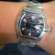 Cartier Roadster Stainless Steel Black Casino Dial Mens...