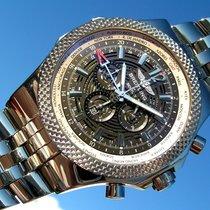 Breitling Bentley Gmt A47362 Schwarzes Zifferblatt Tresor Uhr...