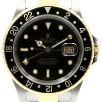 Rolex GMT-Master II 16713 Men's 40mm Black Yellow Gold...