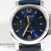 Panerai LUMINOR 1950  pam688 blue dial GMT AUTOMATIC ACCIAIO -...