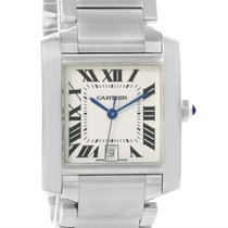 Cartier Tank Francaise Quartz Silver Dial Large Unisex Watch