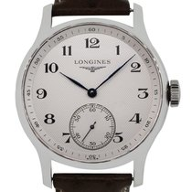 Longines Stainless Steel Master Collection Leather Watch