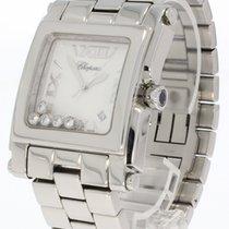 Chopard Happy Sport Square Armbanduhr In Stahl Mit Brillanten