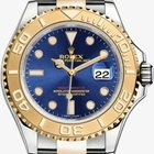 Rolex Yachtmaster SS & 18kt Yellow Gold Blue Dial Unworn