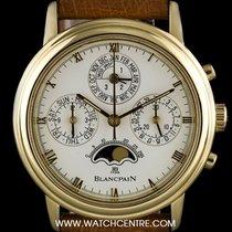 Blancpain 18k Y/G Perpetual Calendar Chrono Villeret 5585-1418-53