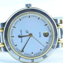 Maurice Lacroix Damen Uhr Vergoldet 34mm Mit Orig. Stahl Band