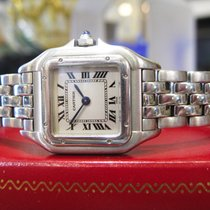 Cartier Panther Panthere Stainless Steel Roman Numeral Watch