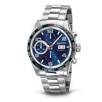 Eberhard & Co. Champion V grande data al 3, quadrante blu,...