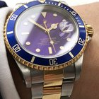 Rolex Submariner Steel Gold Purple Dial Automatic Autom...