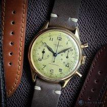 Universal Genève 1940s 18K YELLOW GOLD OVERSIZED 38MM WATERPRO...