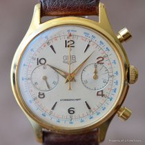GUB Glashütte CHRONOGRAPH UROFA 59 GOLD FILLED MANUAL WINDING...