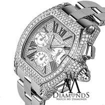 Cartier Diamond Cartier Roadster Xl W62020x6 Chronograph...