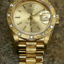 Rolex 18k Gold Womens President 69288 Champagne Index Dial...
