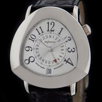 DeLaneau White Gold Starmaster DUAL TIME GMT Watch