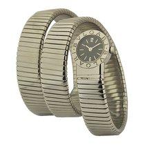 Bulgari BB191TS Tubogas Serpent - Steel on Bracelet with Black...