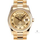 Rolex Day-Date Yellow Gold Champagne Deco Roman Numeral Dial...