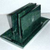 Rolex Large green MARBLE Catalogue stand
