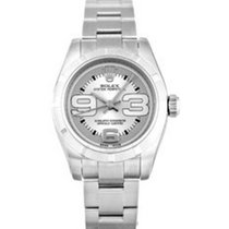 Rolex Oyster Perpetual 176210 Ladies Small 26mm Silver Arabic...