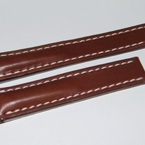 Breitling Kalbslederband für Faltschließe, Dunkelbraun 20-18 mm