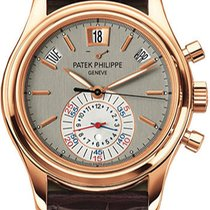 Patek Philippe Complicated Calender Silver-Gray Dial Brown...