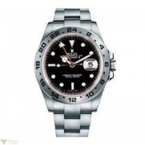 Rolex Oyster Perpetual Explorer II Black Dial Stainless Steel...