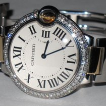 Cartier Ballon Bleu 36 MM 18K Gold Diamonds