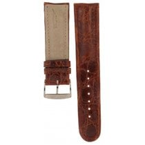 Genuine Leather Hand Made Crocodile Brown Strap 22mm