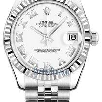 Rolex Datejust 31mm Stainless Steel 178274 White Roman Jubilee
