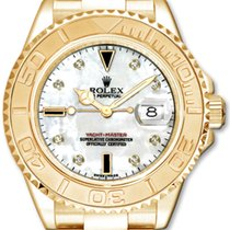 Rolex Yacht-Master 35 168628 White Mother of Pearl Diamond...