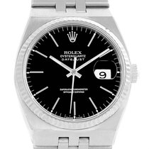 Rolex Oysterquartz Datejust Steel 18k White Gold Black Dial...