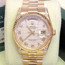 Rolex Day-Date 118338 - Factory Set Diamonds Serviced By Rolex
