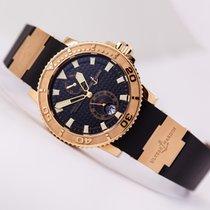 Ulysse Nardin Maxi Marine Diver 18kt Rose Gold Black Dial